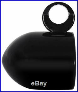 2 Rockville MAC65B 6.5 360° Swivel Black Aluminum Wakeboard Tower Speaker Pods