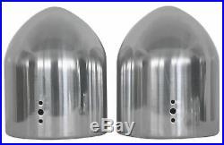 (2) Rockville MAC65S 6.5 360° Degree Swivel Chrome Wakeboard Tower Speaker Pods