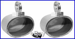 (2) Rockville MAC69S 6x9 360° Degree Swivel Chrome Wakeboard Tower Speaker Pods