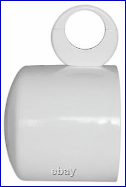 2 Rockville MAC69W 6x9 360° Swivel White Aluminum Wakeboard Tower Speaker Pods