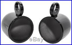 (2) Rockville MAC80B 7.7 360 Degree Swivel Marine Wakeboard Tower Speaker Pods