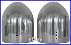 (2) Rockville MAC80S 7.7 360° Degree Swivel Chrome Wakeboard Tower Speaker Pods