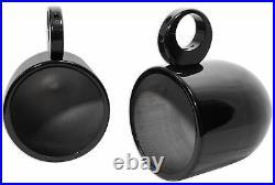 (2) Rockville MAC90B 8 360 Degree Swivel Marine Wakeboard Tower Speaker Pods