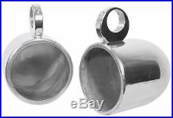 (2) Rockville MAC90S 8 360° Degree Swivel Chrome Wakeboard Tower Speaker Pods