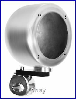 (2) Rockville MS40B Chrome 4 200 Watt Marine Wakeboard Tower Boat Speakers