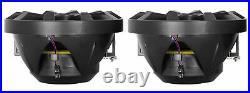(2) Rockville RKL80MB 8 Marine Dual Wakeboard Tower LED Speakers+Amp+Receiver