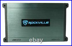 (2) Rockville RKL80MB 8 Marine Dual Wakeboard Tower Speakers withLED's+Amplifier
