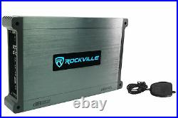 (2) Rockville RKL80MW 8 Marine Dual Wakeboard Tower LED Speakers+Amp+Receiver