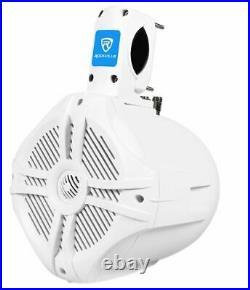 (2) Rockville RWB65W 6.5 White 250w Marine Wakeboard Tower Speakers+Amplifier