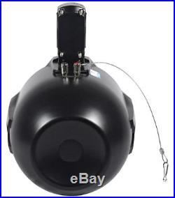(2) Rockville RWB80B 8 Black 500 Watt Marine Wakeboard Tower Speakers+Covers