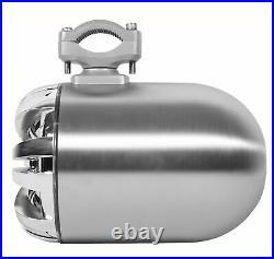 (2) Rockville WB65 6.5 600w Marine Wakeboard Swivel Tower Speakers+Amplifier