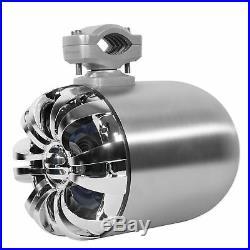 2 Rockville WB65 6.5 600w Metal Marine Wakeboard Swivel Tower Speakers+Receiver