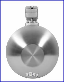 2 Rockville WB65 6.5 600w Metal Marine Wakeboard Tower Speakers+Swivel Brackets
