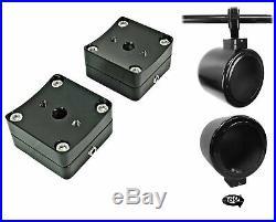 (2) kicker CSC54 5.25 360° Swivel Black Aluminum Wakeboard Tower Speakers