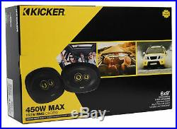 (2) kicker CSC693 6x9 360° Degree Swivel Chrome Wakeboard Tower Speakers