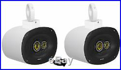 (2) kicker CSC693 6x9 360° Swivel White Aluminum Wakeboard Tower Speakers