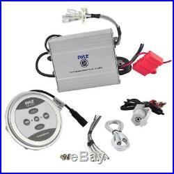 2 x Pyle PLMRB85 8 Wakeboard Tower Speakers, 2-Channel Amplifier, Speaker Wire