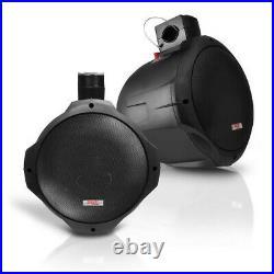2 x Pyle PLMRB85 8 Wakeboard Tower Speakers, 4-Channel Amplifier, Speaker Wire