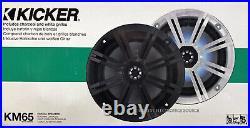 2 x Twin Black Coated Wakeboard Speaker Kicker 45KM654CW 6.5 Marine Speaker