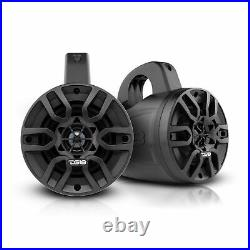 2x DS18 HYDRO 4 480 W 4 Ohm Bluetooth Black Amplified Wakeboard Tower Speakers