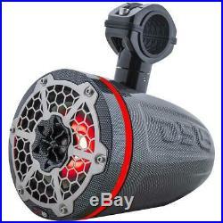 2x DS18 HYDRO CF8TPB 8 Wakeboard Pod Tower Speaker 425W RGB LED Light