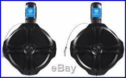 (4) 8 Wakeboard Tower Speakers+Memphis Audio 16-MXA4.45 4-Channel Amplifier