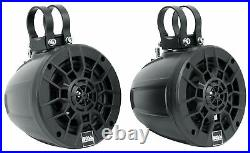 (4) Boss MPWT50 5.25 500w UTV ATV Marine Wakeboard Tower Speakers+Memphis Amp