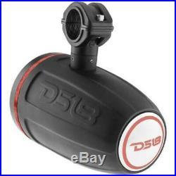 4 DS18 NXL8TPBK 8 Marine Wakeboard Tower Speakers ATV UTV Boat Jeep RGB Light