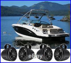 (4) Hifonics TPS-CMS65 6.5 300 Watt Wakeboard Tower Marine Speakers For Boat