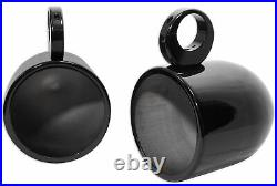 (4) JBL MS8LB 450 Watt 8 Black LED Marine Wakeboard Tower Boat Speakers