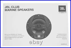 (4) JBL MS8W 450 Watt 8 White Marine Wakeboard Tower Boat Speakers