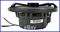 (4) KICKER 45KM654L 6.5 390w White Marine Wakeboard Tower LED Boat Speakers