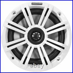 (4) KICKER 45KM654 6.5 390 Watt Black Marine Wakeboard Tower Boat Speakers