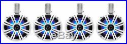 (4) KICKER 45KMTC8W 8 1200 Watt Marine Wakeboard Tower Speakers withLED's KMTC8