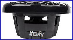 (4) Kenwood 6.5 600 Watt Waterproof Marine Boat Wakeboard Tower Speakers-Silver