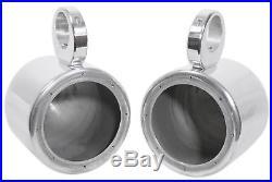 (4) Kenwood 6.5 Silver Marine Wakeboard Tower Speakers+Amplifier+Amp Wire Kit