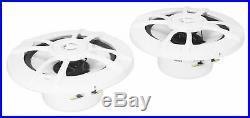 (4) Kenwood KFC-1633MRW 200w 6.5 Marine Boat White Wakeboard Tower Speakers