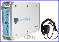 (4) Kicker 41KM604W 6.5 300w Marine Wakeboard Tower Speakers+Amplifier+Amp Kit