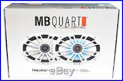 (4) MB Quart NK1-169 6x9 560 Watt Marine Boat Wakeboard Tower Speakers