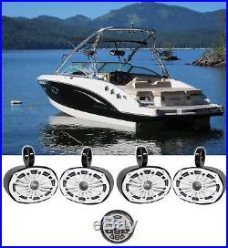 4 MB Quart NK1-169 6x9 560w Marine Wakeboard Tower Speakers+Bluetooth Receiver