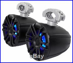 (4) Memphis Audio 6.5 Wakeboard Tower Boat Speakers+4-Channel Amplifier+Amp Kit