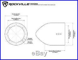 (4) Polk Audio 6.5 1200 Watt Marine Boat Wakeboard Tower Speakers