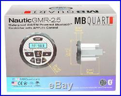 (4) Rockville 8 600w Marine Wakeboard Tower Speakers+Bluetooth Gauge Receiver