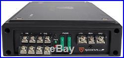 (4) Rockville 8 Wakeboard Tower Speakers+4-Channel Amplifier RZR/ATV/UTV/Cart