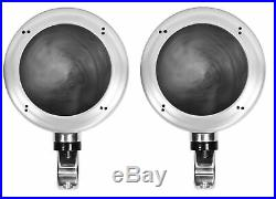 (4) Rockville MS40B Chrome 4 200 Watt Marine Wakeboard Tower Boat Speakers