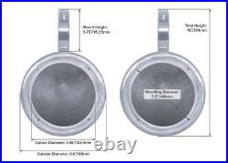 (4) Rockville MS525W 5.25 800 Watt Marine Boat Wakeboard Tower Speakers-White