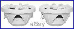 (4) Rockville RKL80MW 8 Marine Boat Wakeboard Tower LED Speakers+Amp+Receiver