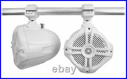 (4) Rockville RWB70W White 6.5 250w Marine Wakeboard 360° Swivel Tower Speakers