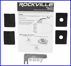 4 Rockville WB65 6.5 600w Metal Marine Wakeboard Swivel Tower Speakers+Receiver