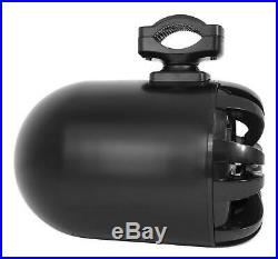 (4) Rockville WB65 Black 6.5 600w Metal Marine Wakeboard Swivel Tower Speakers